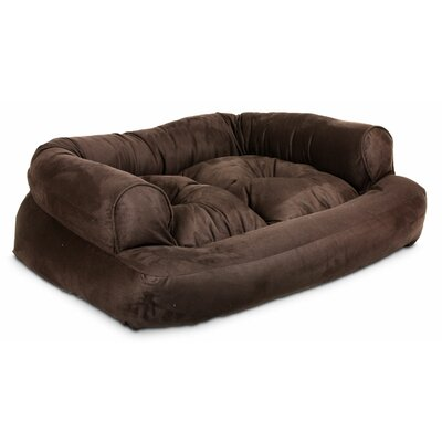 Overstuffed Luxury Dog Sofa Color: Hot Fudge, Size: Small