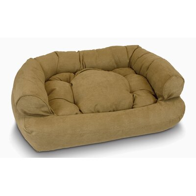 Overstuffed Luxury Dog Sofa Color: Camel, Size: Small