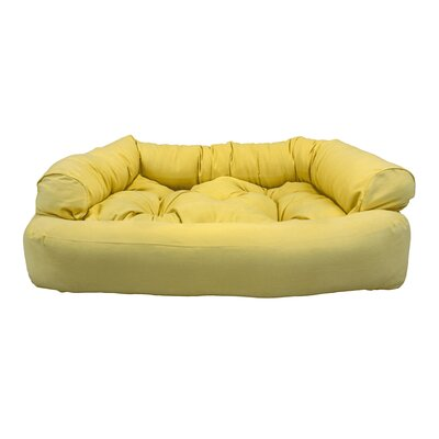 Overstuffed Luxury Dog Sofa Color: Lemon, Size: Small