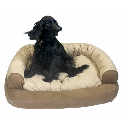 Overstuffed Luxury Dog Sofa Size: Small (30 L x 20 W), Color: Peat
