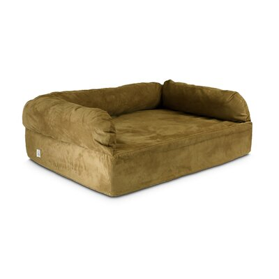 Luxury Dog Memory Foam Sofa Size: X-Large (54 L x 36 W), Color: Camel