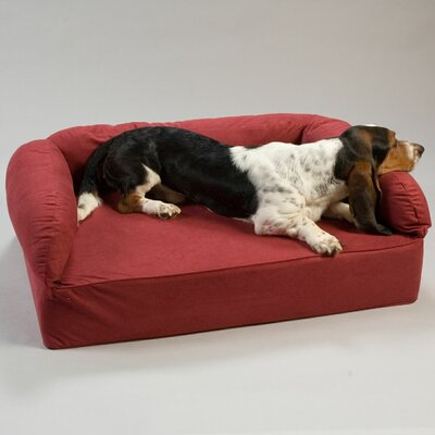 Luxury Dog Memory Foam Sofa Size: X-Large (54 L x 36 W), Color: Red