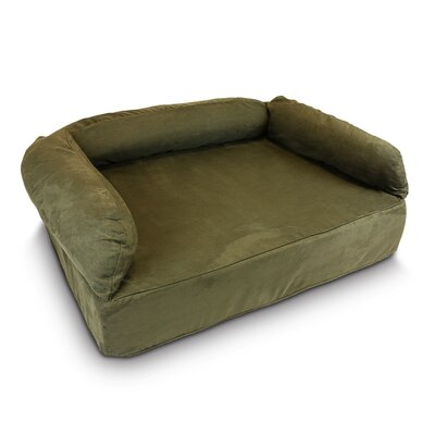 Luxury Dog Memory Foam Sofa Size: Large (40 L x 30 W), Color: Olive