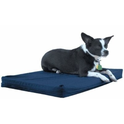 Rectangular Crate Dog Mat Color: Navy, Size: Large (32 H x 21 W)