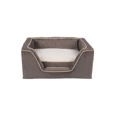 Luxury Square Pet Bed with Memory Foam Color: Dark Chocolate / Buckskin, Size: Medium (23 W x 19 D)