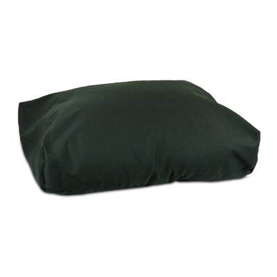 Rectangular Dog Pillow Size: Small (24 L x 19 W), Fabric: Olive