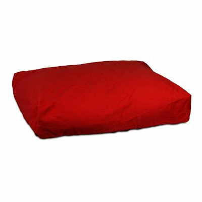 Rectangular Dog Pillow Size: Medium (36 L x 21 W), Fabric: Red