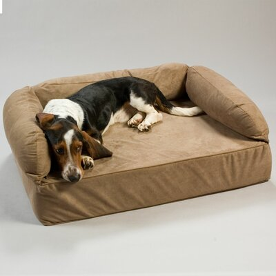 Luxury Dog Memory Foam Sofa Size: Large (40 L x 30 W), Color: Peat