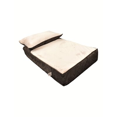 Pillow Rest Lounger Dog Mat with Fur Top Size: 54 W x 36 D x 5 H, Color: Laurel Mocha/Latte