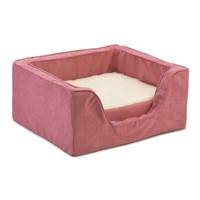Luxury Square Pet Bed with Memory Foam Size: Large (27 W x 23 D), Color: Pink / Pink