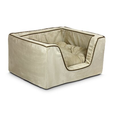 Luxury Square Nest Dog Bed Size: Large (27 L x 23 W x 12 H), Color: Buckskin