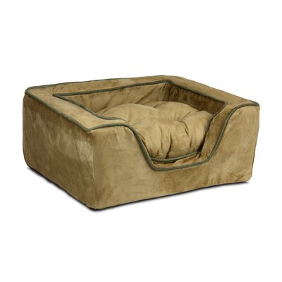 Luxury Square Nest Dog Bed Size: X-Large (31.5 W x 27.5 D x 12 H), Color: Camel