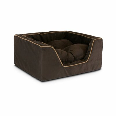 Luxury Square Nest Dog Bed Size: Large (27 L x 23 W x 12 H), Color: Hot Fudge
