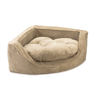 Premium Corner Bolster Dog Bed Size: Small (21 W x 21 D), Color: Piston Sand