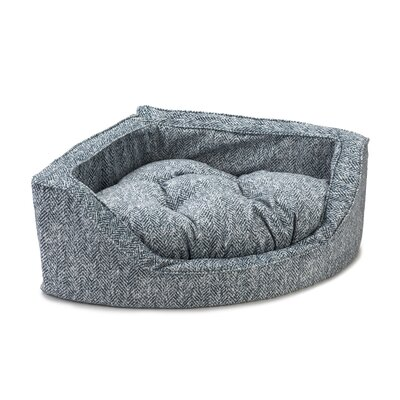 Premium Corner Bolster Dog Bed Size: Medium (25 W x 25 D), Color: Palmer Indigo