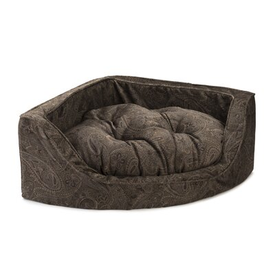 Premium Corner Bolster Dog Bed Size: Small (21 W x 21 D), Color: Laurel Mocha