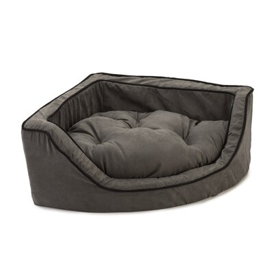 Luxury Corner Bolster Dog Bed Size: Medium (25 L x 25 W), Color: Anthracite