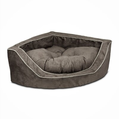 Luxury Corner Bolster Dog Bed Size: Small (22 L x 22 W), Color: Dark Chocolate