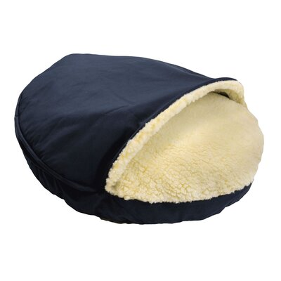 Cozy Cave Dog Hooded Size: Extra Large (45 L x 45 W), Fabric: Navy