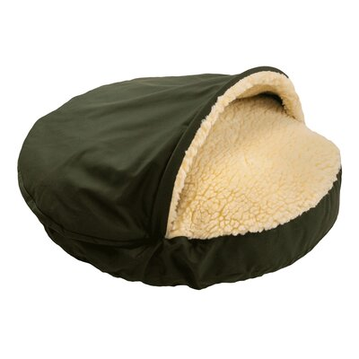Cozy Cave Dog Hooded Size: Extra Large (45 L x 45 W), Fabric: Olive