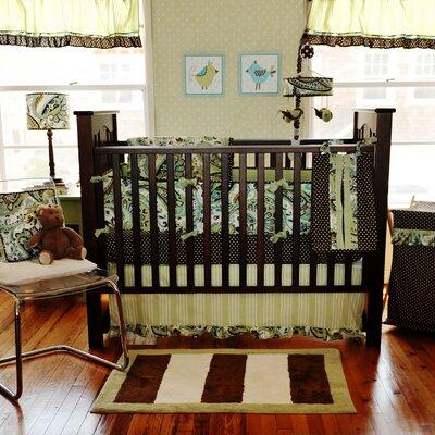 My Baby Sam Paisley Splash Crib Bedding Set - Color: Lime