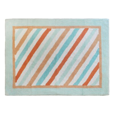 Penny Lane Aqua/Orange Area Rug