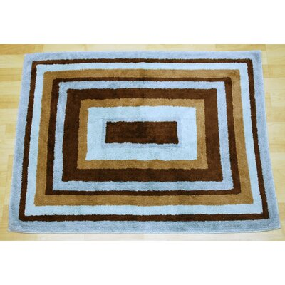 Mad About Blue/Brown Plaid Area Rug Rug Size: 26 x 34