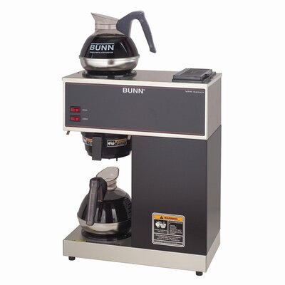 Pourover Commercial 12 Cup Coffee Brewer with Two Easy Pour Commercial Decanters VPR2EP