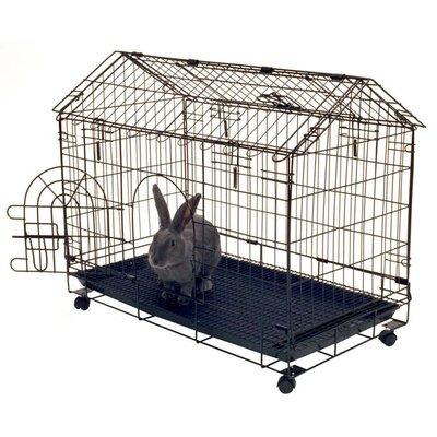 Jeff Bunny House 4-Wheel Rabbit Cage
