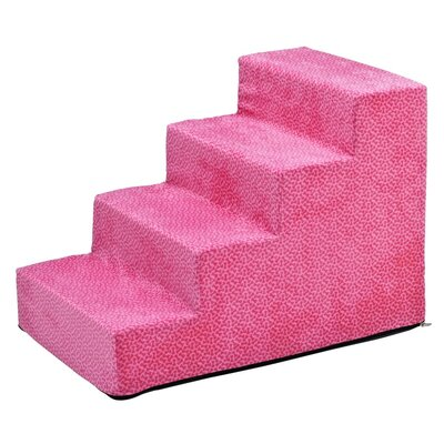 Designer 4 Step Pet Stair Color: Flamingo Bones
