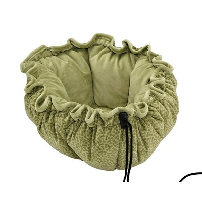Buttercup Nest Dog Bed Size: Small (24 L x 24 W), Color: Green Apple Bones