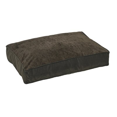 Super-Loft Rectangle Dog Bed Size: Large - 36 L x 26 W, Color: Chocolate
