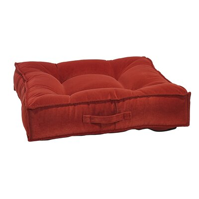Piazza Dog Bed Size: Large - 34 L x 34 W, Color: Pomegranate