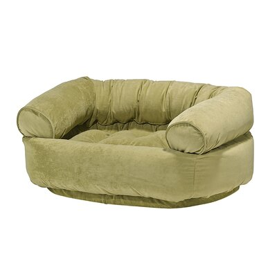 Double-Donut Dog Bed Size: X-Large - 48 L x 38 W, Color: Celery