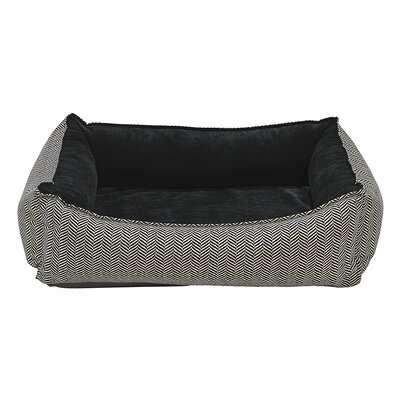Oslo Bolster Dog Bed Size: X-Large - 35 L x 47 W, Color: Black/White