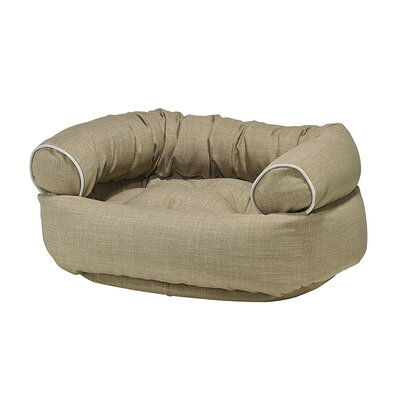 Double-Donut Dog Bed Size: Medium - 35 L x 27 W, Color: Flax