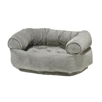 Double-Donut Dog Bed Size: X-Large - 48 L x 38 W, Color: Granite
