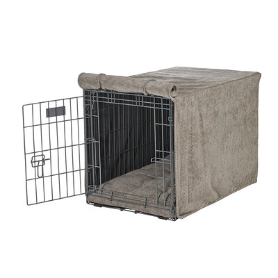 Luxury Crate Cover Size: Medium (21 H x 19 W x 30 L), Color: Cappuccino