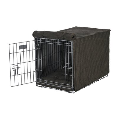 Luxury Crate Cover Size: X-Large (30 H x 28 W x 42 L), Color: Coffee