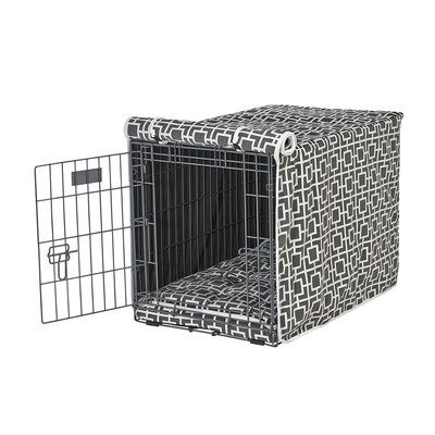 Luxury Crate Cover Size: X-Large (30 H x 28 W x 42 L), Color: Gray