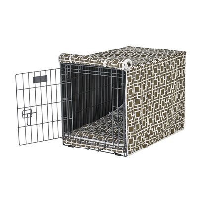 Luxury Crate Cover Size: Medium (21 H x 19 W x 30 L), Color: Taupe