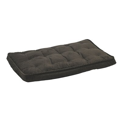 Luxury Dog Crate Mattress Size: Large - 36 L x 24 W, Color: Coffee
