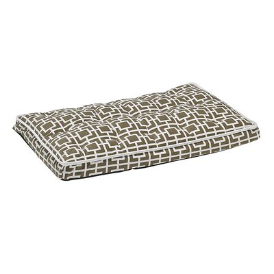 Luxury Dog Crate Mattress Size: Medium - 30 L x 19 W, Color: Cappuccino