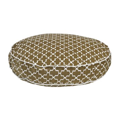 Round Dog Bed Size: Large - 44 L x 44 W, Color: Cedar