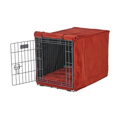 Luxury Crate Cover Size: Medium (21 H x 19 W x 30 L), Color: Pomegranate