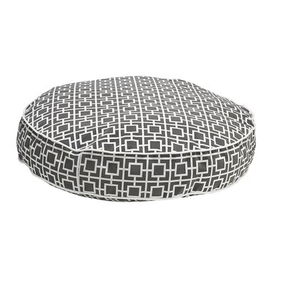 Round Dog Bed Size: Medium - 36 L x 36 W, Color: Gray
