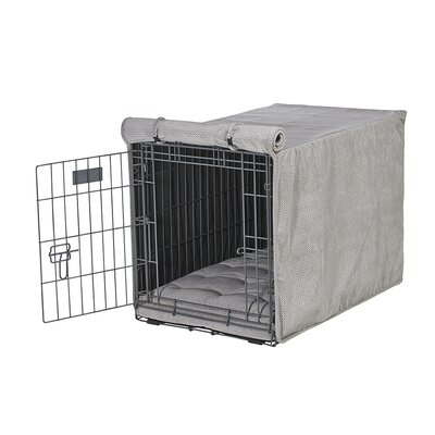 Luxury Crate Cover Size: X-Large (30 H x 28 W x 42 L), Color: Silver