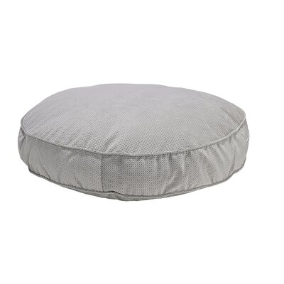 Round Dog Bed Size: Large - 44 L x 44 W, Color: Silver