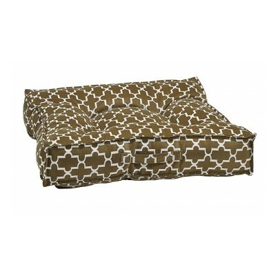Piazza Dog Bed Color: Cedar, Size: Large - 34 L x 34 W