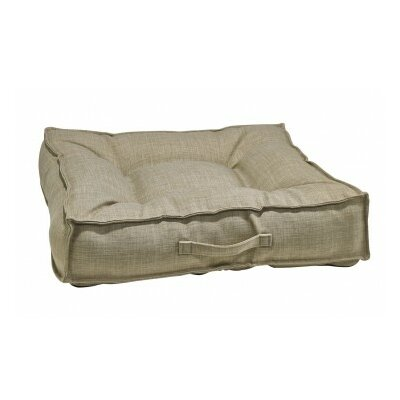 Piazza Dog Bed Color: Flax